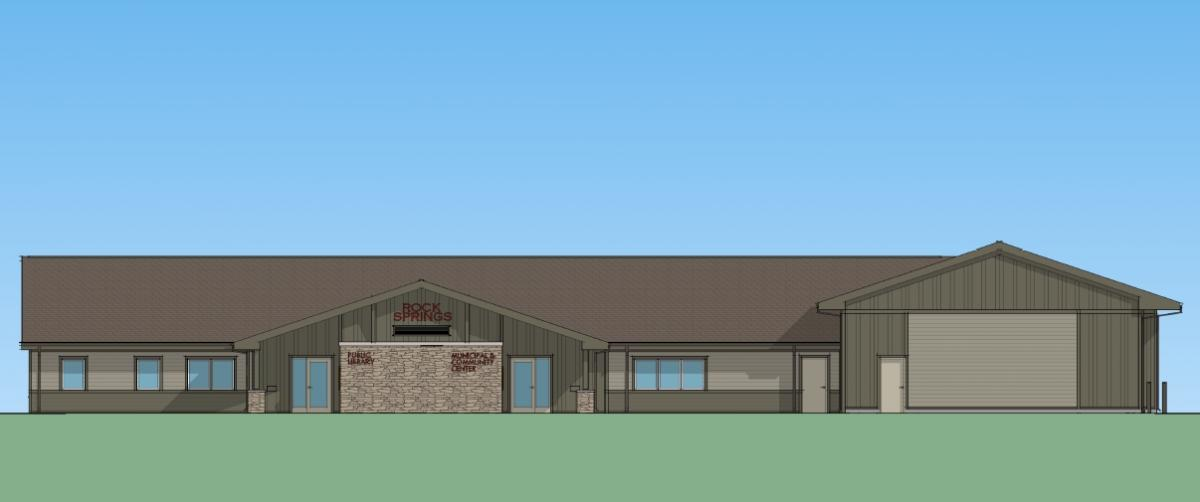 rendering of Rock Springs Municipal Building by ADCI